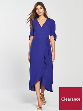 oasis-tie-sleeve-wrap-midi-dress-rich-blue