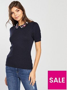 oasis-painted-meadow-embellished-collar-knit-navy