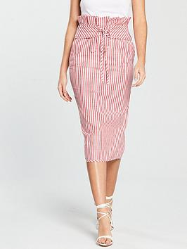 v-by-very-high-waisted-pencil-skirt-red-stripe