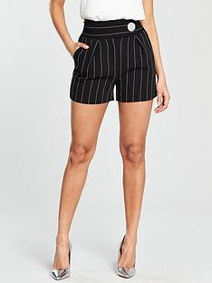 v-by-very-pinstripe-short-black