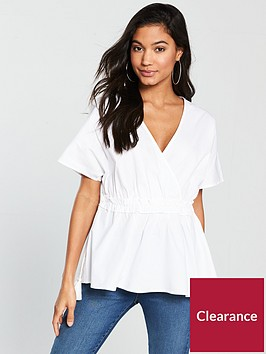 v-by-very-drawstring-waist-smock-top-whitenbsp