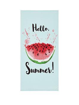 catherine-lansfield-watermelon-beach-towel