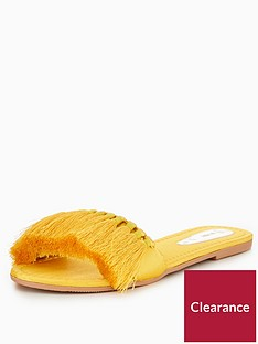 v-by-very-miami-tassel-slider-yellow