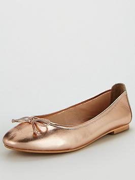 v-by-very-leah-leather-bow-detail-flat-ballerina-shoe-rose-gold