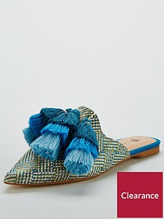 v-by-very-riri-tassel-pointed-mule-blue