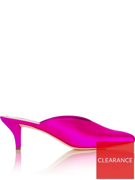 613232ac1d LOEFFLER RANDALL Juno Satin Kitten Heel Mules - Pink | very.co.uk