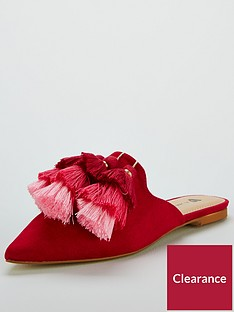 v-by-very-riri-tassel-point-mule-pink