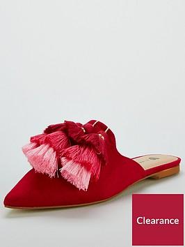 v-by-very-riri-tassel-point-mule-pink