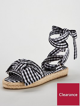 v-by-very-paris-gingham-bow-flat-espadrille-blackwhite