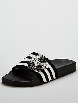 v-by-very-florida-pearl-embellished-stripe-slider-blackwhite