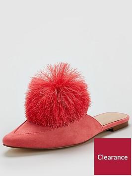v-by-very-florence-pom-pom-flat-mule-pink
