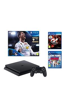 playstation-4-slim-500gbnbspconsole-bundle-with-fifanbsp18-gran-turismo-sport-and-knowledge-is-power