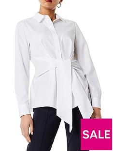 karen-millen-wrap-front-shirt-white