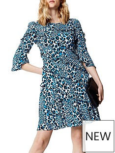 karen-millen-karen-millen-leopard-print-dress-with-frills