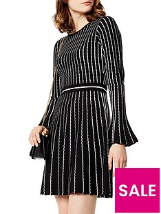 karen-millen-micro-stripe-stitch-knit-dress