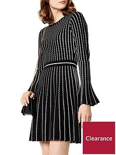 karen-millen-micro-stripe-stitch-knit-dress