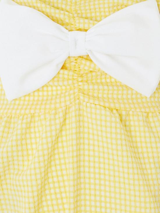 Hard-Working Brand New Yellow Girls Monsoon Bow Swimming Costume Age 12-18 Months Swimwear
