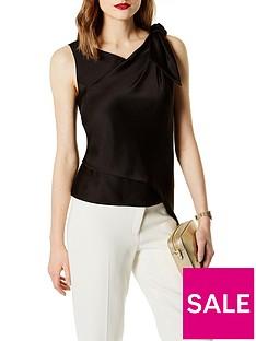 karen-millen-knot-drape-shoulder-top