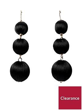 river-island-triple-orb-earring--black