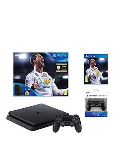 playstation-4-slim-500gbnbspconsole-withnbspfifa-18-plus-optional-extranbspcontroller-andor-12-months-playstation-network