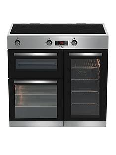 beko-kdvi90x-90cm-electric-range-cooker-stainless-steel