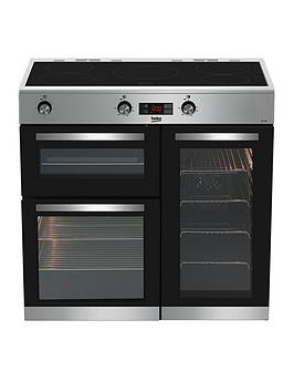 beko-kdvi90x-90cm-electric-range-cooker-stainless-steel