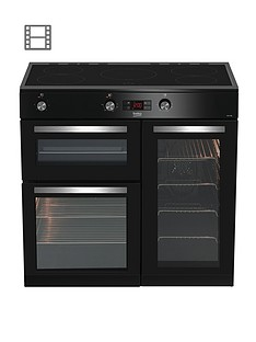 beko-kdvi90k-90cm-electric-range-cooker-black