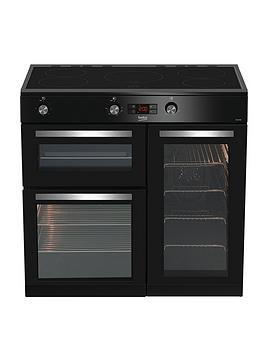 beko-kdvi90k-90cm-electric-range-cooker-black