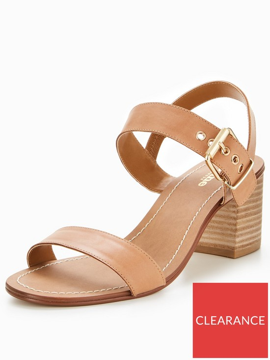 d61ae4063f4 Dune London Jany Wide Fit Block Heel Stacked Sandal - Tan