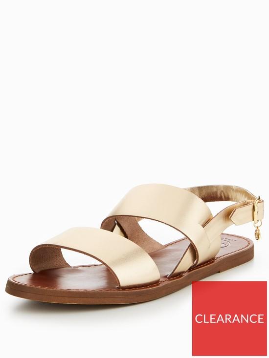 a1192a0ef794 Dune London Lowpez Wide Fit Double Strap Flat Sandals