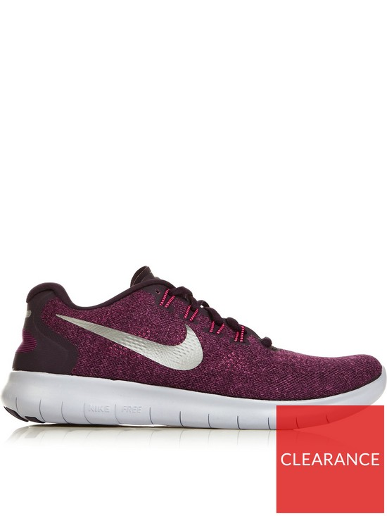 aba969f5b13f8 Nike Free Run 2017 Running Trainers - Burgundy
