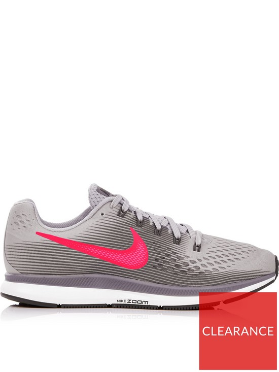 best quality f67f3 3cd30 Nike Air Zoom Pegasus 34 Running Trainers - Grey pink
