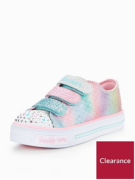 skechers-girls-twinkle-toes-shuffles-ms-mermaid-strap-plimsoll