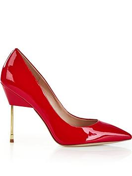 kurt-geiger-london-britton-full-court-metal-heeled-shoes-red