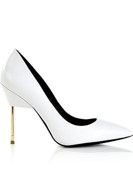 kurt-geiger-london-britton-full-court-metal-heeled-shoes-white