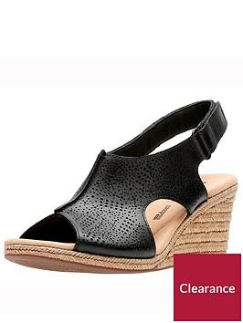 clarks-lafley-rosen-wedge-sandal-black