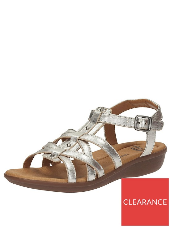 07fb40b21cb8 Clarks Manilla Bonita Gladiator Flat Sandal - Silver