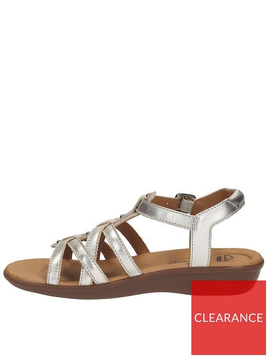e70254041b46f ... Bonita Gladiator Flat Sandal - Silver. View larger