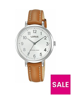lorus-lorus-womens-stainless-steel-case-tan-leather-strap-watch