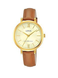 lorus-lorus-womens-yellow-gold-case-tan-leather-strap-watch