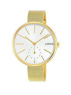 lorus-gold-plated-mesh-braceletnbspwith-oversized-dial-ladies-watch
