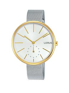 lorus-lorus-womens-stainless-steel-two-tone-mesh-bracelet-watch-with-oversized-dial