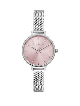 ted-baker-pink-dial-silver-plated-mesh-strap-ladies-watch