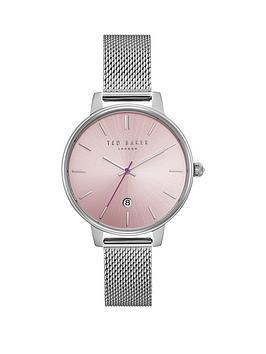 ted-baker-pink-dial-silver-plated-mesh-bracelet-ladies-watch