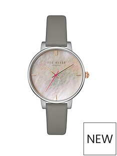 ted-baker-silver-case-mother-of-pearl-dial-grey-leather-strap-ladies-watch