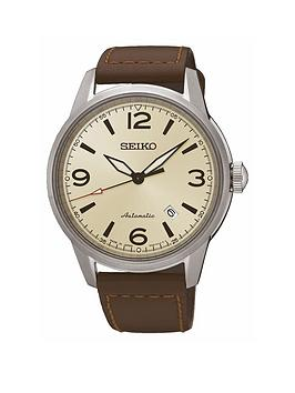 seiko-stainless-steel-case-brown-leather-strap-mens-watch
