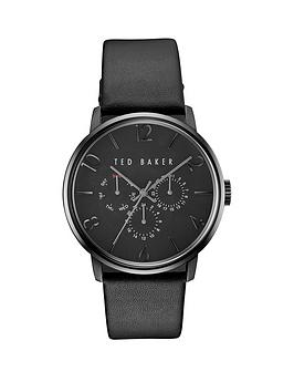 ted-baker-black-multifunction-dial-with-black-leather-strap-mens-watch