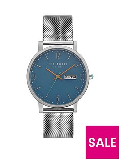 ted-baker-day-amp-date-dial-with-mesh-braceletnbspmensnbspwatch
