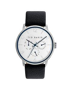 ted-baker-multifunction-dial-black-leather-strap-mensnbspwatch