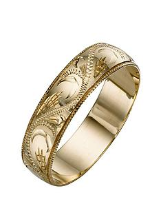 love-gold-9-carat-yellow-gold-patterned-wedding-band-5-mm